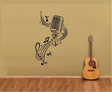 Music Notes And Microphone .Vinyl Wall Decal Sticker Home Art Decor