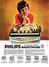 PUBLICITE ADVERTISING  1962   PHILIPS   magnétophone