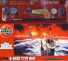 Airfix Das Boot U-Boat Type VIIC 7 - 1:400 Modell-Bausatz + Farbe Pinsel Kleber