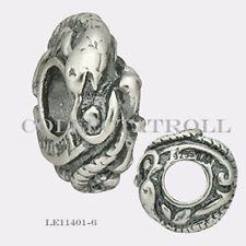 Authentic Trollbeads Silver Zodiac Snake Bead Trollbead  LE11401-6