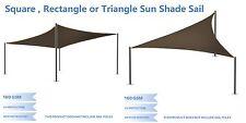 Brown Sun Shade Sail Standard Size Patio Garden Pergola Uv Block Fabric Top