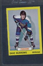 1973/74 Topps #027 Dave Burrows Penguins NM/MT *568