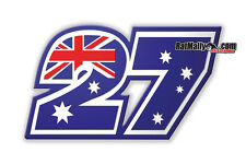 CASEY STONER 27 DUCATI MOTOGP RACE NUMBERS STICKERS x3