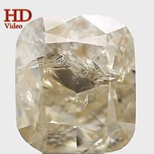 Natural Loose Diamond Yellow Grey Color Cushion I1 Clarity 4.70MM 0.44 Ct KR108