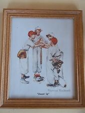 "Norman Rockwell ""Choosin' Up"" Baseball Young Boys Framed Print"