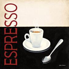Marco Fabiano: Cafe Moderne IV Fertig-Bild 30x30 Wandbild Küche Cafe Kaffee