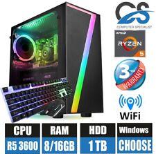 Atención al cliente-Escritorio PC para juegos AMD ryzen 5 3600 (seis) 6 Core 16GB Ram 1TB HDD Windows 10