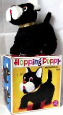"""AUTOMATE MECANIQUE - CHIEN NOIR """" HOPPING PUPPY+ BOITE """"- ALPS Co -MADE IN JAPAN"""