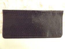 Genuine Brown Leather Snake Skin Long Wallet/Bill Fold