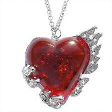 NEW 'Ruby' Heart Stardust Meteorite Necklace RRP *£35* Nickel-Free