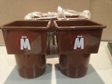 TWO (2) BIG M IN CAR CADDY CARTON HOLDER FUIC OAK CHOCOLATE MILK