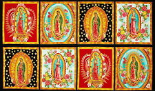 Inner Faith Our Lady of Guadalupe 100% COTTON fabric by the panel approx 24 x 44