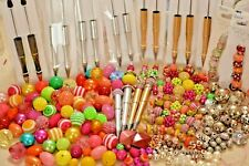 Large Lot Beaded Pen Business Startup kit - Over 200 beads and 18 pens - A2943c