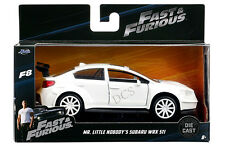 JADA  FAST AND FURIOUS 8 MR. LITTLE NOBODY'S SUBARU WRX STI 1/32 WHITE 98305