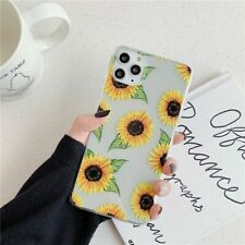 Cute Sunflower Phone Case Cartoon Plating Coque Shell Back Cover For iPhone