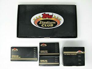 *** (5) STADIUM CLUB MEMBERS ONLY FACTORY SETS ***
