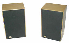 "JBL J2045 Oak Stereo Bookshelf Speakers 5-1/4"" - 80W Pair - VG Working Condition"