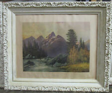 """Robert Woods Painting """"The Grand Ceton"""" Wood Frame 21x25"""