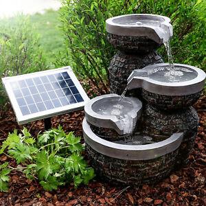 Solaire Puit de Jardin + Batterie Fontaine Jeux D'Eau Esotec 101314