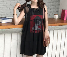 Vintage Harajuku Style Japanese Gothic Lolita Punk Summer Tulle Princess Dress