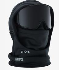 ANON Men's Headwear Black Hooded Balaclava MFI Snowboard Ski ONE SIZE NEW -B822