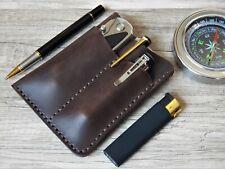 pocket organiser/leather edc/edc wallet/leather edc organizer EDC wallet pouch