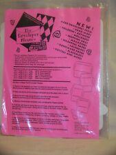 Plastic Envelope Templates Lot of 5 The Envelopes Please