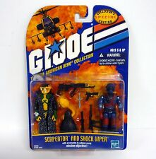 SERPENTOR AND SHOCK VIPER G.I. Joe Action Figures MOC COMPLETE 2002