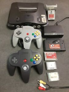 Nintendo 64 Bundle - Includes Console - Cords -  GameShark Pro 3.3 And More