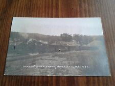 Rare RPPC real photo postcard railroad station depot at Harrison ME RR