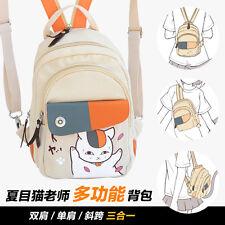 Natsume Yuujinchou Nyanko Sensei Cat Neko Backpack Single Shoulder Bag School Sa