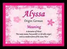 ALYSSA personalizzata nome significato PLACEMAT