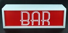 """Retro Style """" BAR """" Box Light Up Wooden Wall Sign Industrial Man Cave Pub"""