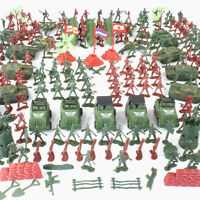 307/100Pc Kit Action Figures Military Boy Army Men Soldier Sand Scene Model Cool