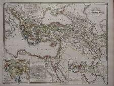 1850 SPRUNER ANTIQUE HISTORICAL MAP SUCCESSORS ALEXANDER THE GREAT 3rd CENTURY