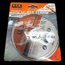 3 Pz Disco Smerigliatrice Angolare Flex Taglia Ferro Acciaio 115x1x22.2mm dfh