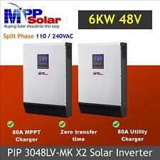 (LV-Mk) inversor de fase Split Solar 6000w 48v 120v/230v + 160A Cargador Solar MPPT