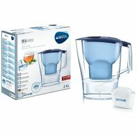 BRITA Aluna Cool MAXTRA+ Plus 2.4L Water Filter Fridge Jug with Cartridge - Blue