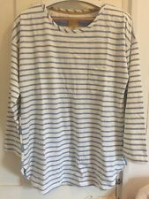 Joules Ladies Long Sleeves Stripes Top Uk14