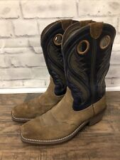 Ariat Heritage Roughstock VentTEK Mens Western Cowboy Boots Size 9.5D Brown