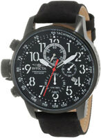 Invicta Men's I-Force Lefty Chrono 100m Black Stainless Steel / Cloth Watch 1517