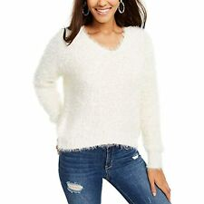 MSRP $44 Freshman Juniors' Fuzzy V-Neck Sweater Size Small