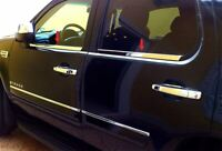 07-13 Chevy Silverado GMC Sierra CREW CAB 4PC Window Sill Trim Stainless Steel