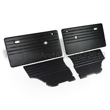 Classic Mini Door Cards (Monte-Carlo) - Black Vinyl Leatherette/Black Stitching