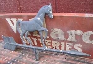 Horse Weathervane Vintage Cast Metal Arrow Directional Pointing Hardware Part
