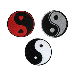 Yin Yang Embroidery Patches Iron Sew On Fancy Dress Jeans Jacket Badge Applique