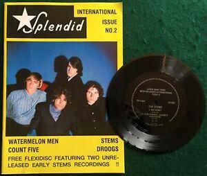 SPLENDID #2 ~ German 1986 magazine w/ THE STEMS ~ No Heart+1  2 x Track Flexi