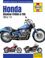 Haynes Manual 2312 - Honda Shadow VT600 & VT750 (88-14) workshop/service/repair