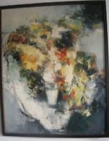"""Gemälde, Milan Martinec, """"Blumenstrauß"""", expressionistisch, signiert"""