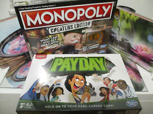 MONOPOLY CHEATERS EDITION & PAYDAY  (BRAND NEW) BY HASBRO